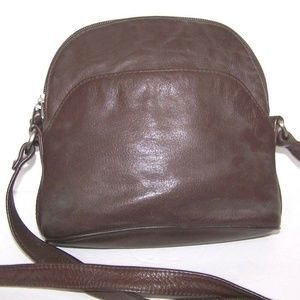 G H Bass & Co Brown Leather Crossbody Bag
